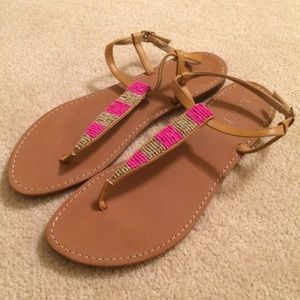 LOFT sandals (pink and gold)